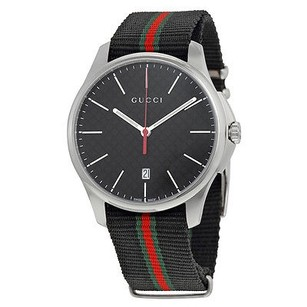 Gucci Gucci G-timeless Black Dial Fabric Strap Ladies Watch
