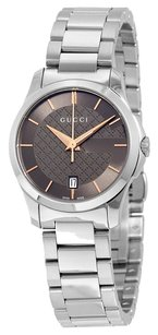Gucci GUCCI G-Timeless Brown Dial Stainless Steel Ladies Watch YA126529