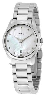 Gucci GUCCI G-Timeless Mother of Pearl Diamond Dial Ladies Watch YA126542