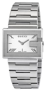 Gucci Gucci G-Watch 100G Silver Dial Stainless Steel Ladies Watch YA100506