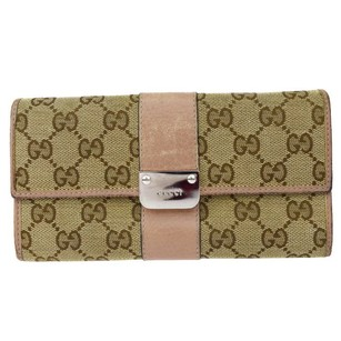 Gucci Gucci GG Pattern Long Bifold Wallet