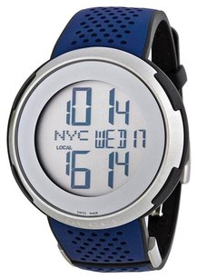 Gucci GUCCI I-Gucci Digital Dial Blue Rubber Men's Watch YA114105