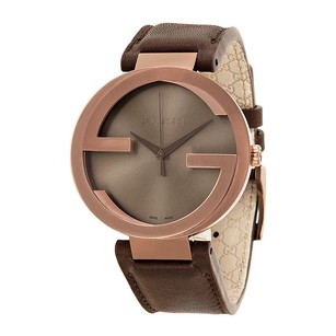 Gucci Gucci Interlocking G Brown Dial Brown Leather Mens Watch