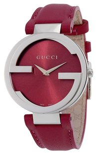 Gucci GUCCI Interlocking G Pink Dial Pink Leather Ladies Watch YA133321