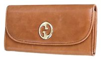 Gucci Gucci Leather 1973 Continental Wallet Wzip Around Pocket 245739