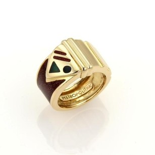Gucci Gucci Metropolitan Enamel 18k Yellow Gold Limited Edition Band Ring - 5.75