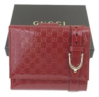 Gucci Gucci Nice Microguccissima French Flap Patent Leather Wallet