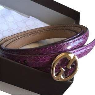 Gucci Gucci purple snake leather belt