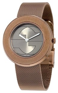 Gucci GUCCI U-Play Brown Dial PVD Stainless Steel Ladies Watch YA129445