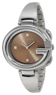 Gucci Guccissima Brown Dial Stainless Steel Ladies Watch