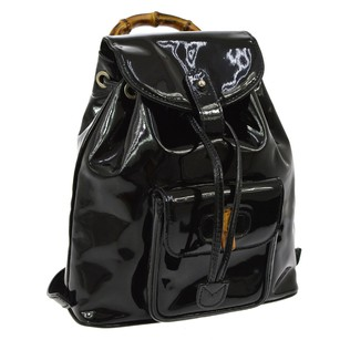 Gucci Hand Patent Leather Backpack