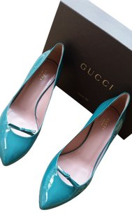 Gucci Heels Turquoise Pumps