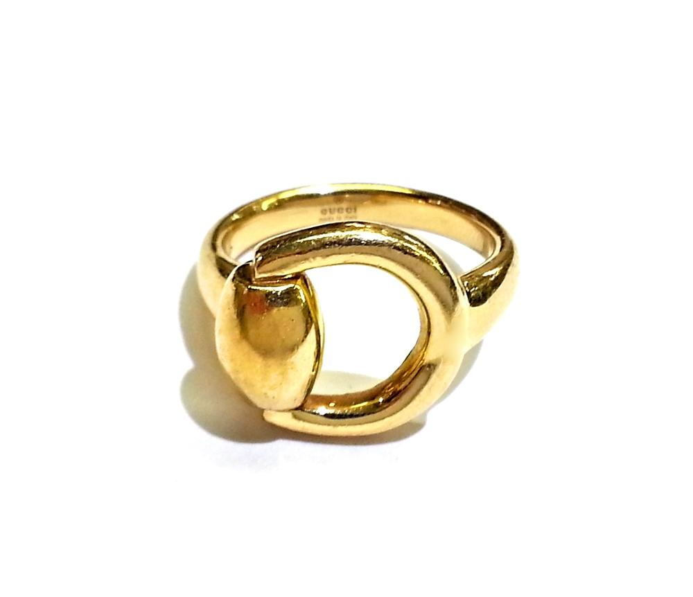 Gucci Horsebit 18k Yellow Gold 6 5 Italy Ring Tradesy