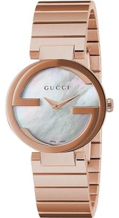 Gucci Interlocking Rose Goldtone Stainless Steel Watch YA133515