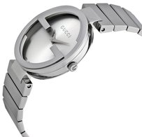 Gucci Interlocking Silver Dial Stainless Steel Ladies Watch