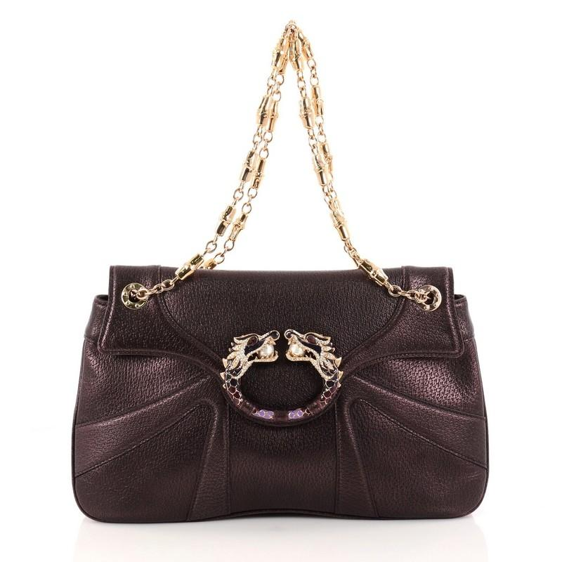 Gucci Leather Gucci Crossbody Bag With Gold Bejeweled Hardware z3a7m5