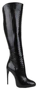 Gucci Kim Python Knee Boot Black Boots