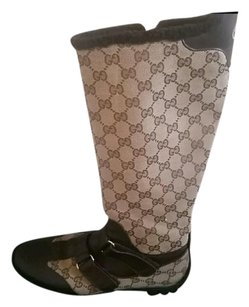 Gucci Knee Brown Boots