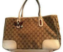 Gucci Leather Brown Monogram Classy Shoulder Bag