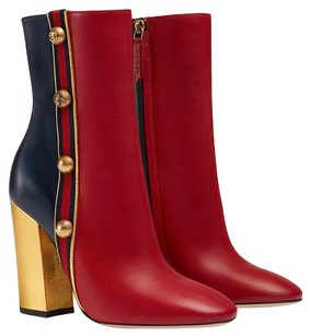 Gucci Leather red/blue Boots
