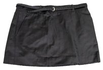 Gucci Cottonsilk W2 Mini Skirt Black