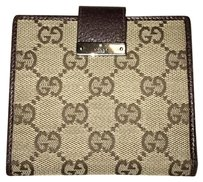 Gucci Monogram GG Leather Compact Wallet