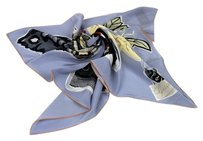 Gucci New Gucci Butterfly Print Silk Scarf