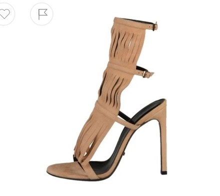 Gucci Suede Leather Nude Sandals