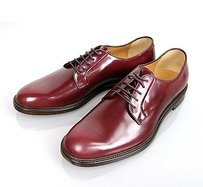 Gucci Mens Leather Lace-up Oxford Wine Red 295618 6083