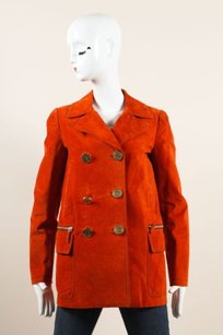 Gucci Suede Leather Pea Coat