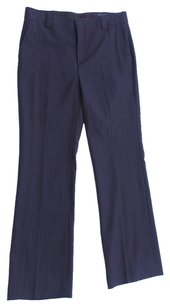 Gucci Pinstripe Wool Italian Straight Pants black