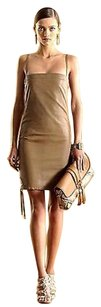 Gucci short dress Brown Runway Leather on Tradesy