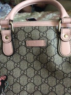 Gucci Satchel in Light pink and brown GG