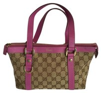 Gucci Satchel in Tan / Fuchsia