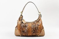 Gucci Taupe Python Shoulder Bag