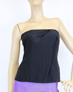 Gucci Silk Tube Sleeveless Top Black