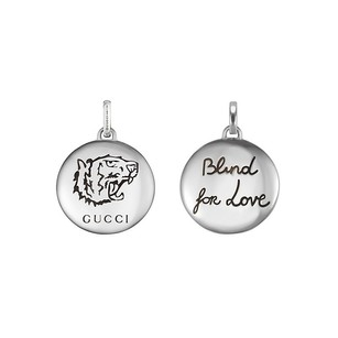 Gucci Sterling Silver Tiger Head and Blind For Love Charm