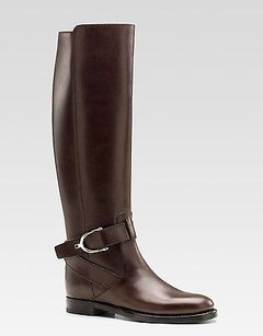 Gucci Stirrup Leather Brown Boots