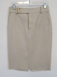 Gucci Italy Wool Skirt Beige