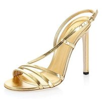 Gucci Leather Sandal Gold Sandals
