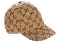 gucci Tan, brown Gucci Guccissima monogram canvas baseball hat