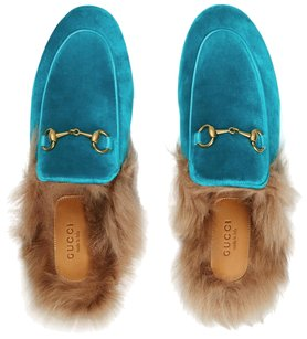 Gucci turquoise blue Mules