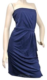 Gucci short dress Blue With Drape Navy on Tradesy