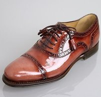 Gucci Womens Cambridge Brogue Terra cotta brown Flats