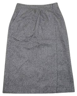 Gucci Woolsilk Wrap 40 Skirt Gray