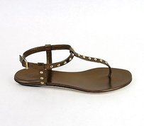 Gucci Yulia Leather Studded Sandal Bronze Sandals