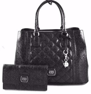 Guess Maxton Carryall Tote in Black