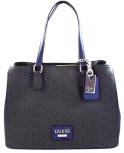 Guess Globes Blue Tote in Black