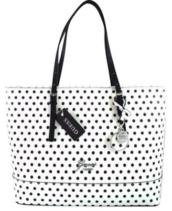 Guess Sailboat Black Tote in White
