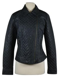 Guess Womens Basic Quilted Coat Navy Jacket
